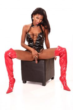Natassia's red boots