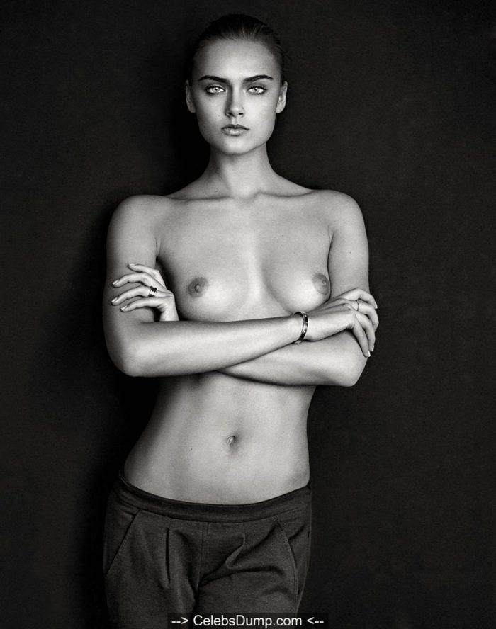 Zuzana Gregorova topless black and white photoshoot