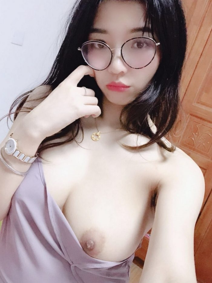 Asian girl selfie big tits