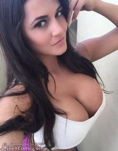 SFW – Seductive busty brunette