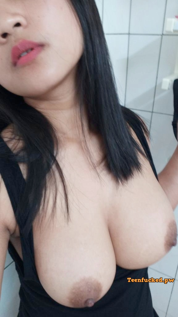 Big tits asian selfie