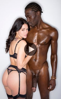 British wife Ava Dalush fucks with big black cock