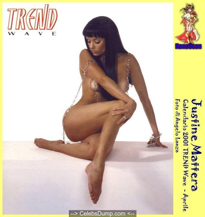 Justine Mattera nude for Trend Wave calendar 2001