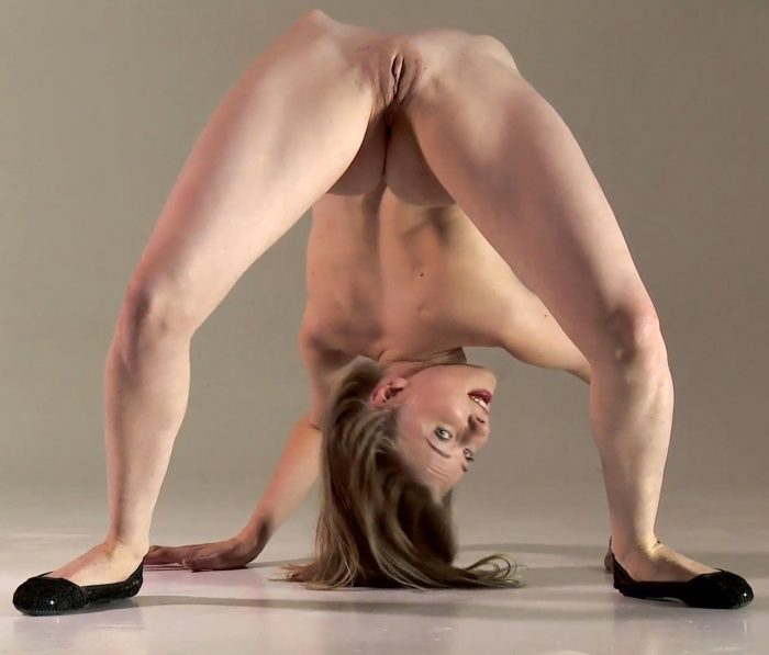 Slim flexible girl Nimfa nude in many positions