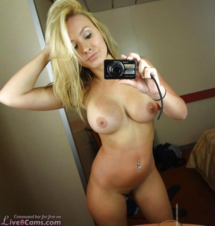 Big mature blonde selfie