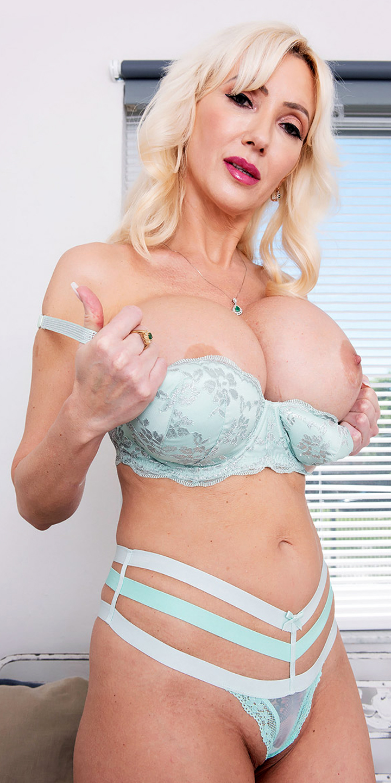 Busty Porn Star Victoria Lobov shows her big round boobs