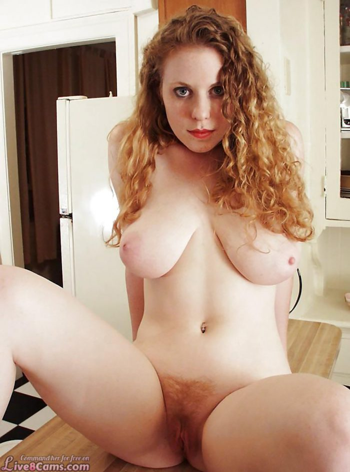 Cute redhead pussy and big boobs naked photo