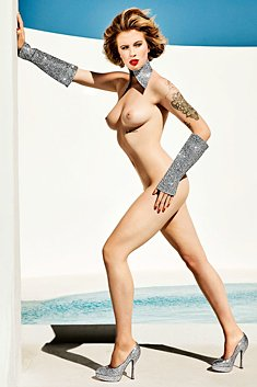 Ireland Baldwin topless and nude for Treats magazine