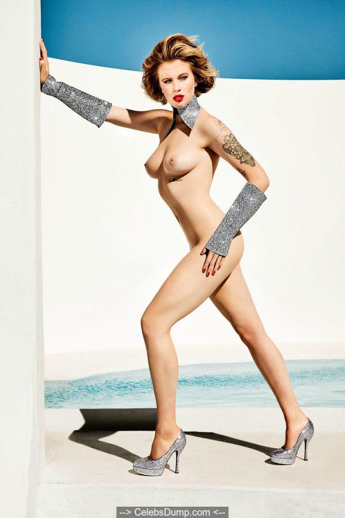 Ireland Baldwin topless and nude for Treats magazine