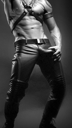 i love a leatherbulge