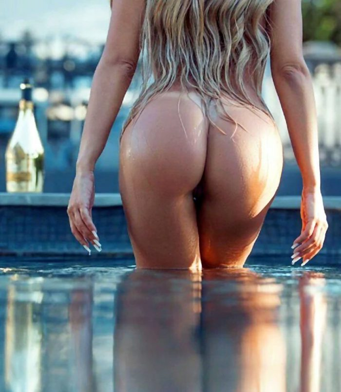 Beautiful ass blonde babe