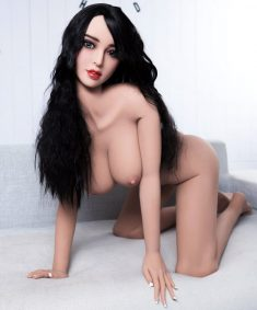 Realistic Sex Doll – Long-Haired Brunette with Big Tits