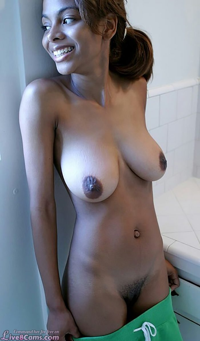 Teen Ebony with big saggy tits