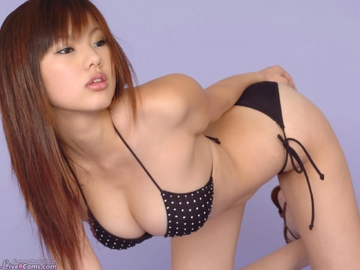 Petite and cute asian in bikini
