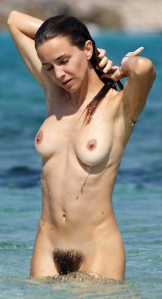 Naked girls at the beach
