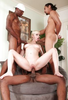 White Whore Interracial Gangbang With Cock Ride