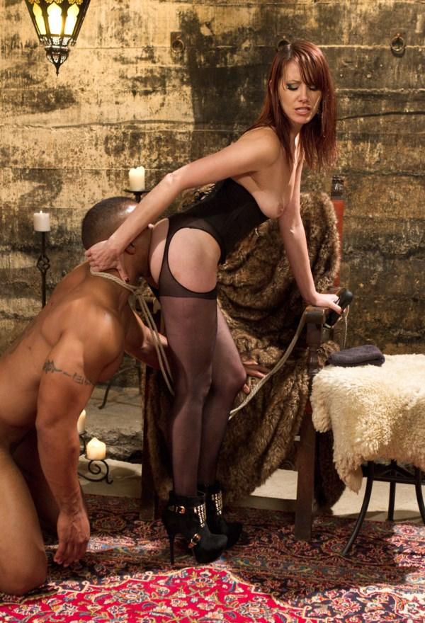 Ebony Slave Licks Goddess'es Divine Ass