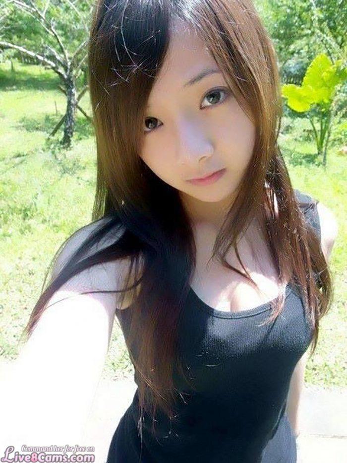 Cute japanese selfie