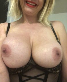 Hot blonde wife big boobs