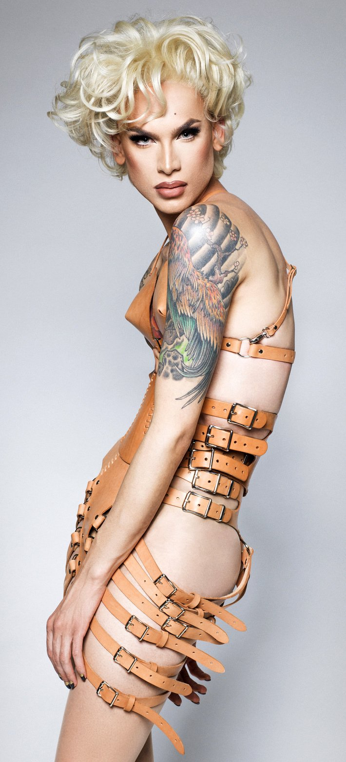 Miss Fame in a sexy leather piece