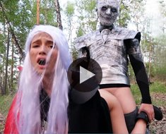 Daenerys Targaryen and Arya Stark loves big dick of the Night King