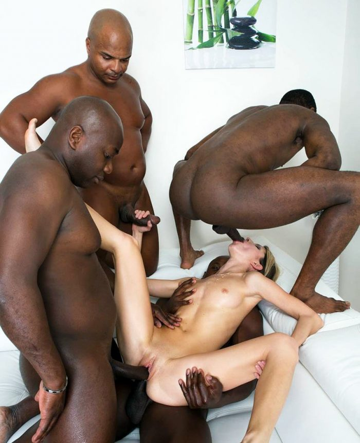 Private Black – Slut Gina Gerson fucks with four big black cocks