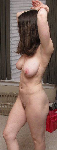 Hot amateur brunette with big breasts