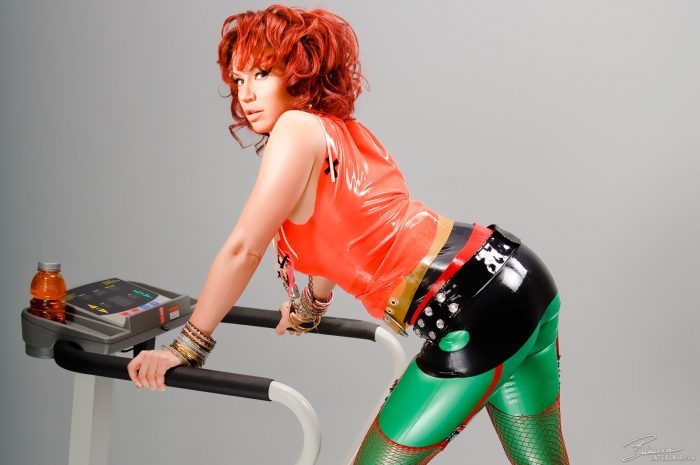 GYM CHIC LATEX TOP