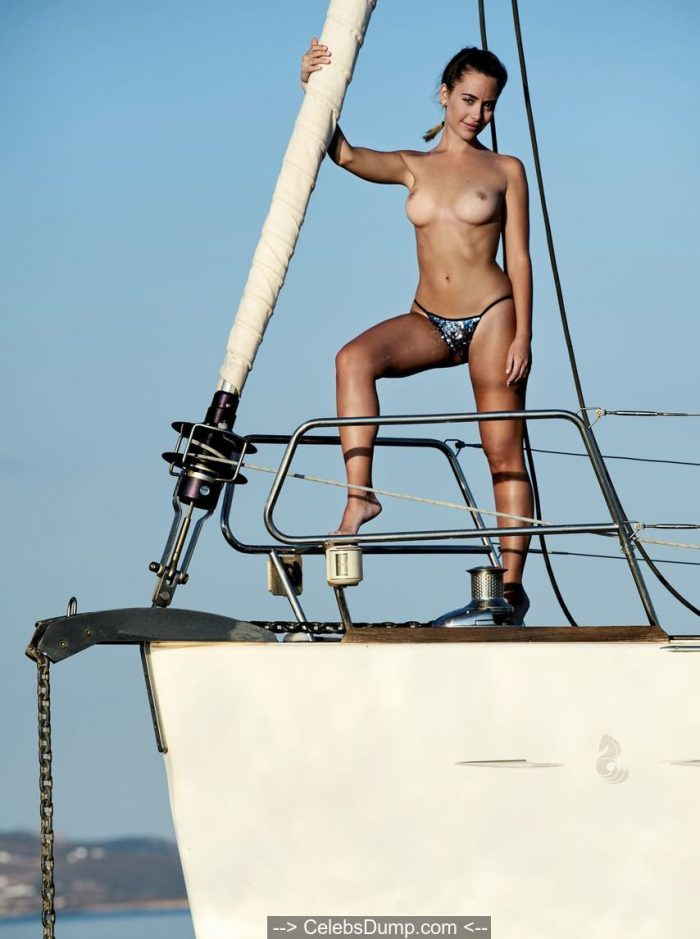 Barbarita Homs topless on a yacht