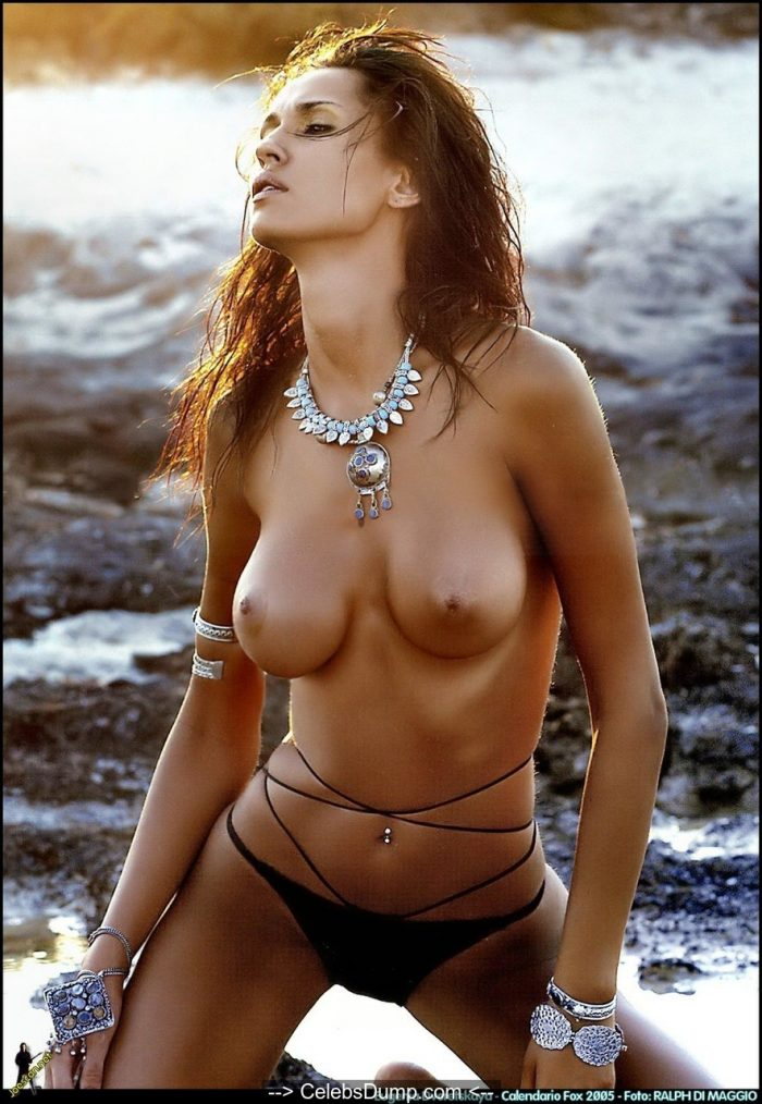 Evgenia Dvoretskaya nude boobs and ass for Fox Calendar 2005