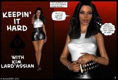 Keepin it hard with Kim Lard'assian xxx