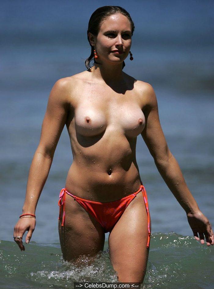 Sam Heuston sunbathing topless in Tenerife paparazzi photos