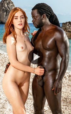 Blacked – Russian redhead Jia Lissa fucks with a huge black cock