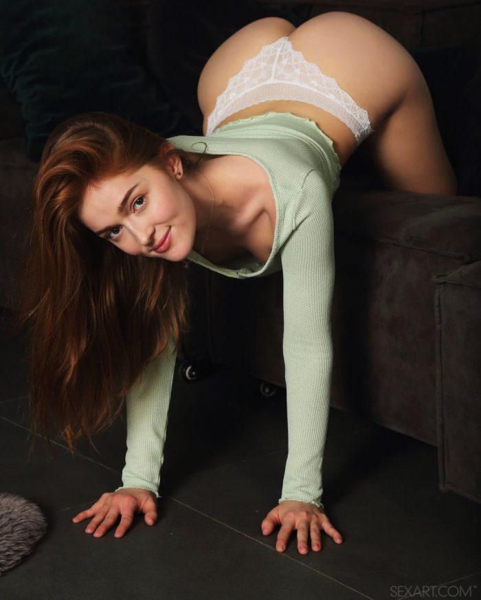 Cute redhead Jia Lissa in Like Velvet by Sex Art