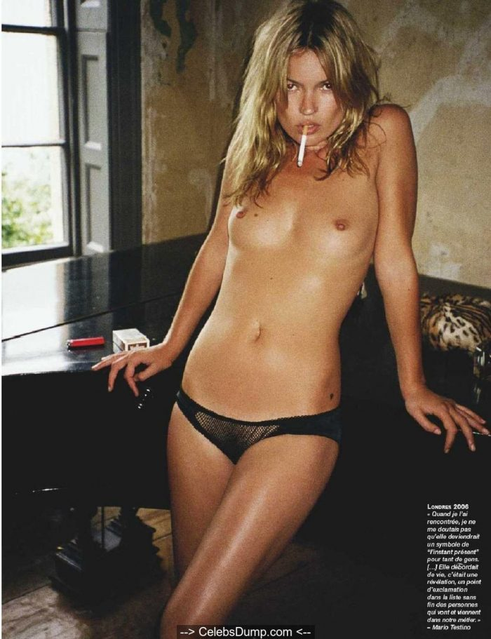 Kate Moss topless and nude for Photo Magazine