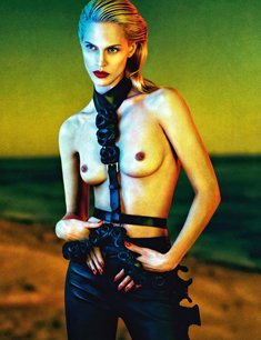 Aymeline Valade topless for Numero Magazine