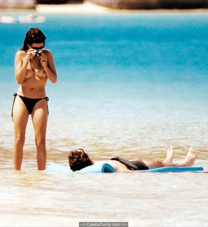Penelope Cruz topless at a beach in Virgin Islands