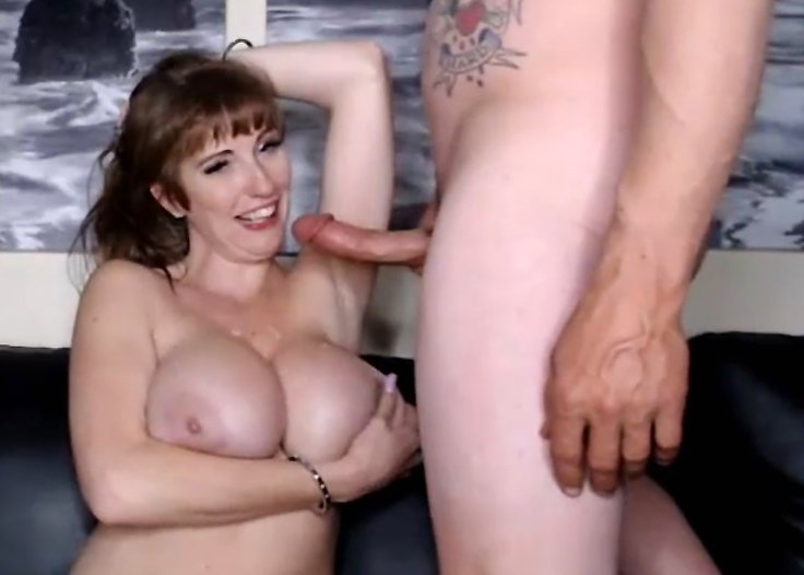 Hot MILF gets huge tits covered with cum after hard pounding