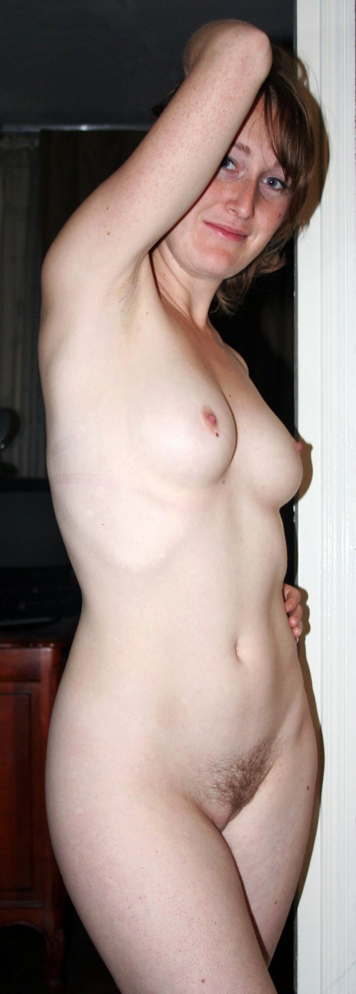 Amateur wife with hairy pussy