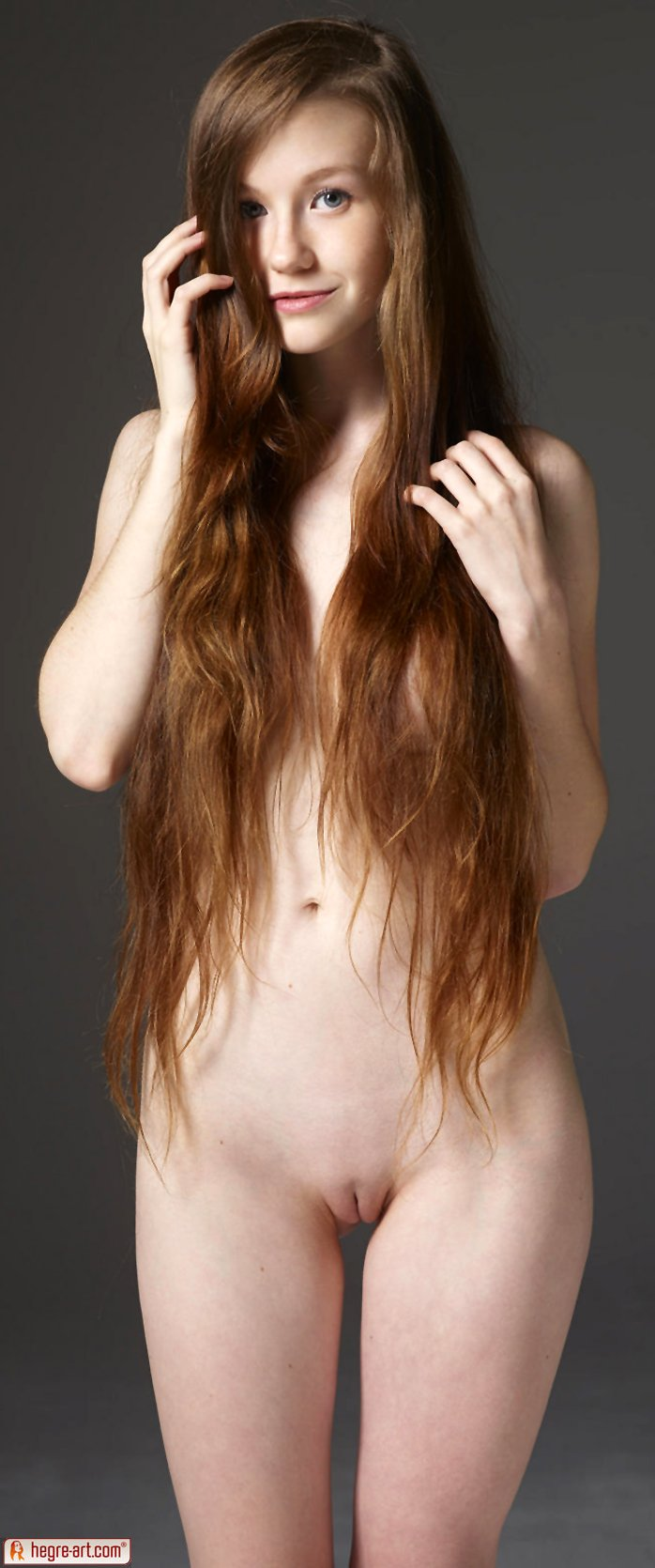 Long-haired girl Emily in Perfect Beauty by Hegre Art