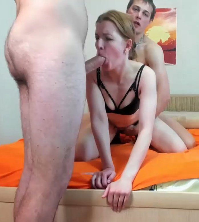 Horny blonde gets ass covered with cum after hard pounding