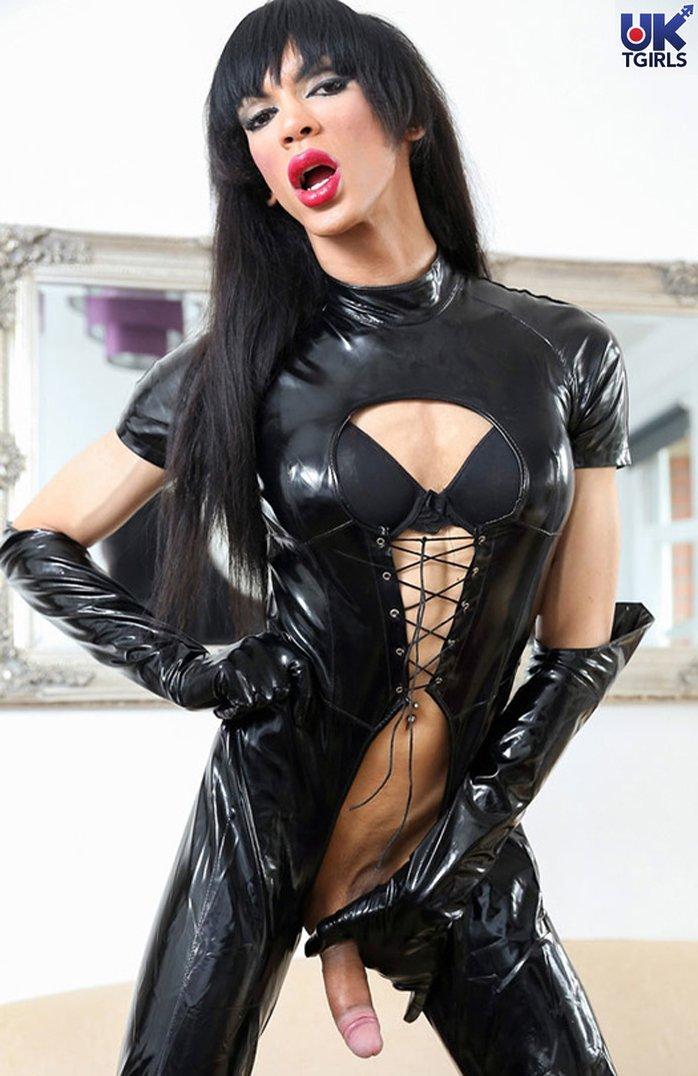 Hotty in black latex