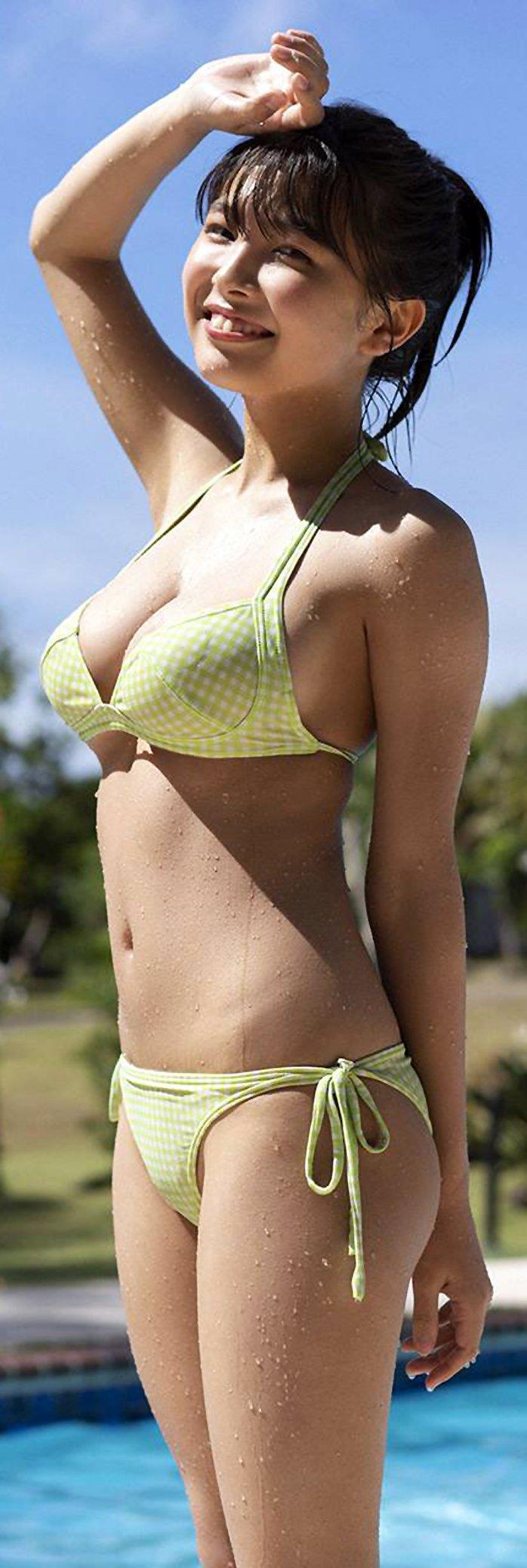 Cute asian girl in bikini