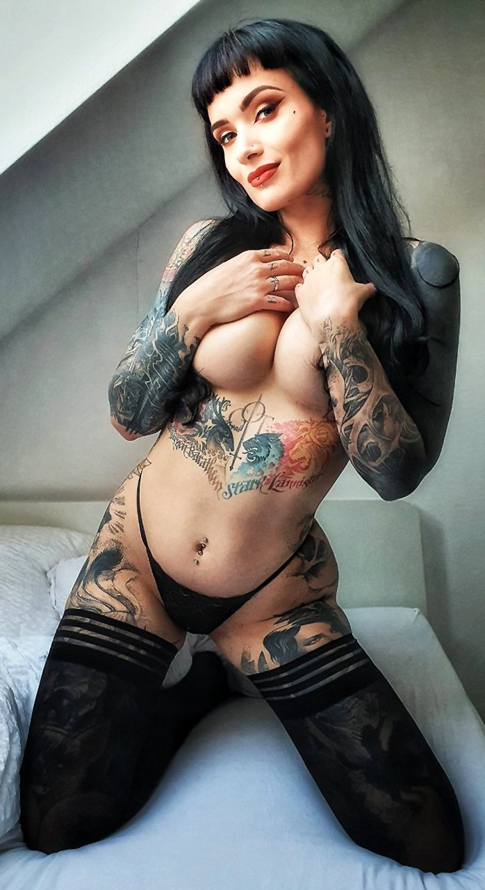 Majkelina Cat is a tattooed Czech girl who will not leave anyone cold