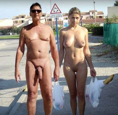 True nudist and busty girlfriend