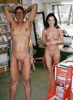 True nudist and his girlfriend love public nudity