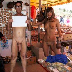 True nudist in public