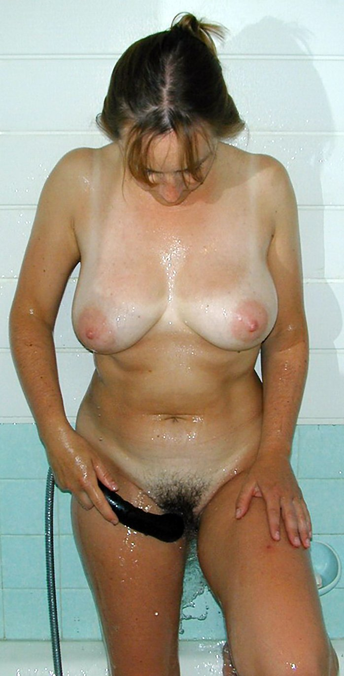 Busty amateur wife in the shower