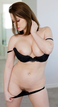 Hot mom Emily Addison shows her big breasts and spreads pussy